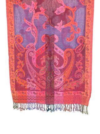 Handgeweven paisley wollen sjaal uit India